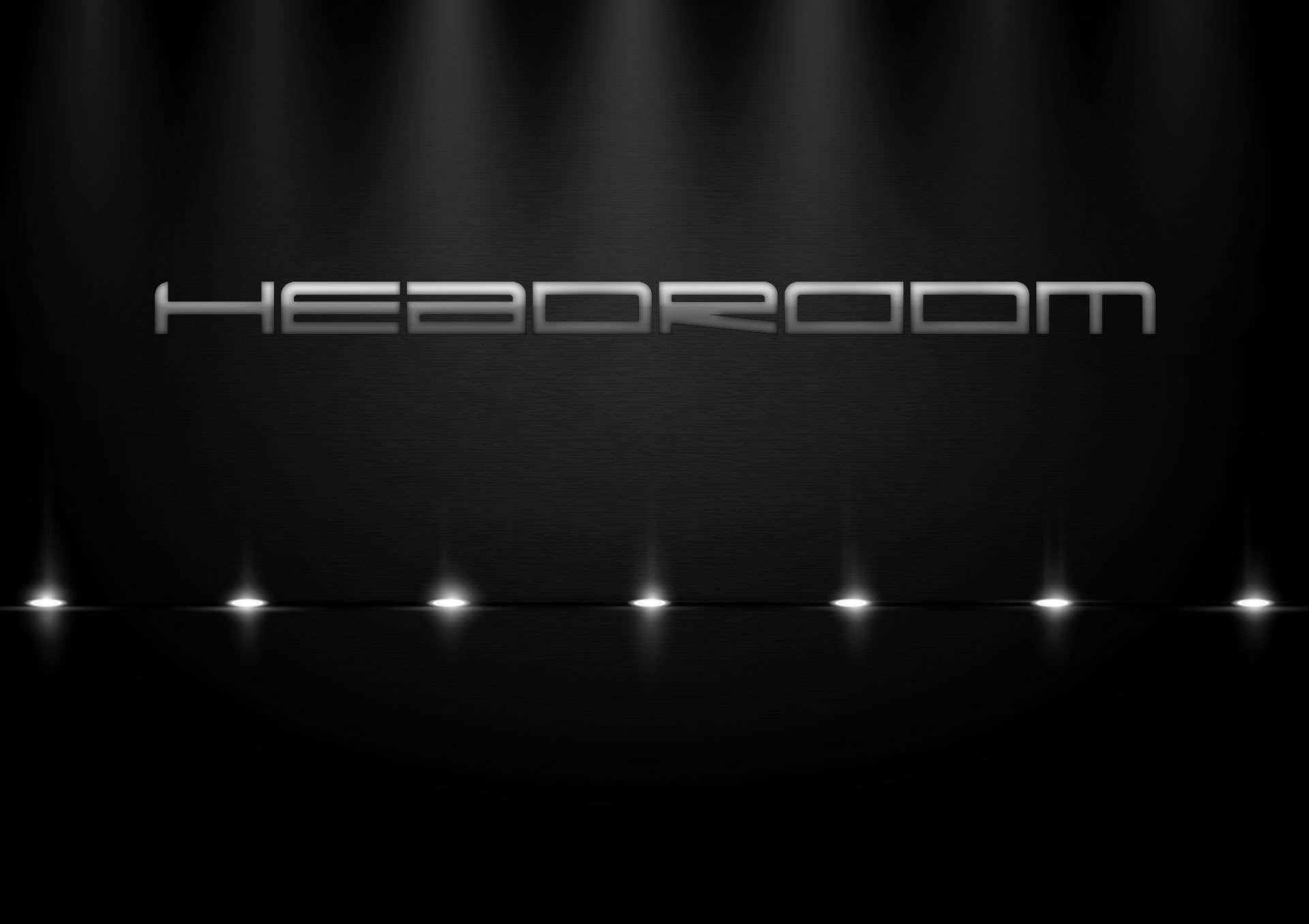headroom logotype on black background